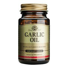 Garlic Oil (Ulei de Usturoi), 100 capsule moi | Solgar