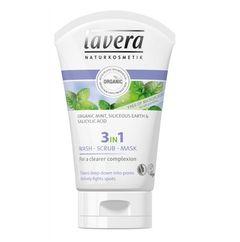 Gel de Curățare Scrub și Mască 3în1 - Purificator & Antiacnee, 125ml | Lavera