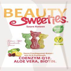 Jeleuri gumate acrișoare cu aromă de fructe, pisicuțe, 125g | Beauty Sweeties