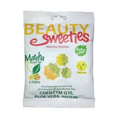 Jeleuri gumate moi cu suc din fructe și ceai Matcha, soare, 125g | Beauty Sweeties
