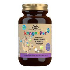 KANGAVITES - Multivitamine și Minerale Pentru Copii, 60 tablete masticabile aromate | Solgar