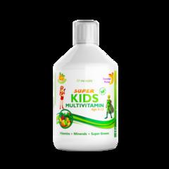 Super Kids Multivitamine Lichide pt Copii cu 30 Ingrediente, 500 ml | Swedish Nutra