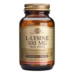 L-LYSINE (Aminoacid L-lizina) 500mg, 50 capsule | Solgar