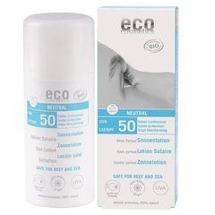Loțiune Fluidă de Protecție Solară FPS50 Fără Parfum, 100ml | Eco Cosmetics