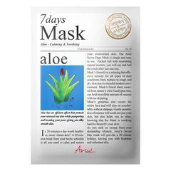 Mască Șervețel 7Days Mask Aloe Vera, Calmare și împrospătare, 20g | Ariul