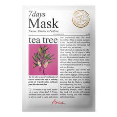 Mască Șervețel 7Days Mask Arbore de Ceai, Curățare și Purificare, 20g | Ariul
