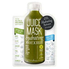 Mască Șervețel Juice Grâu și Țelină, Hidratare - Hrănire și Echilibrare, 20g | Ariul