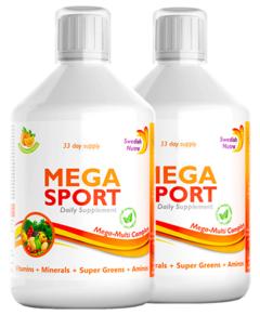 Pachet 2 x MEGA SPORT – Complex Lichid cu 147 Ingrediente Active, 500 ml | Swedish Nutra
