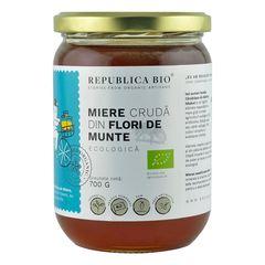 Miere de Flori de Munte Ecologică Crudă, 700g | Republica BIO