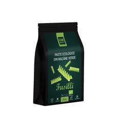 Paste ecologice Fusilli din Mazăre Verde, Fără Gluten, 250g | Rawboost