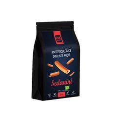 Paste ecologice Sedanini din Linte Roșie, Fără Gluten, 250g | Rawboost