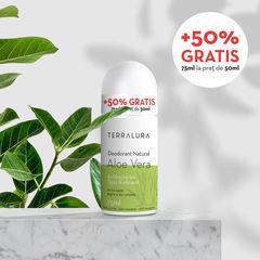 Deodorant Roll-on Natural Aloe Vera, 50ml + 50% GRATIS | Terralura