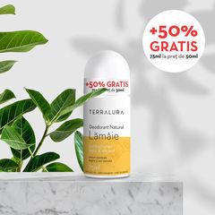 Deodorant Roll-on Natural Lămâie, 50ml + 50% GRATIS | Terralura