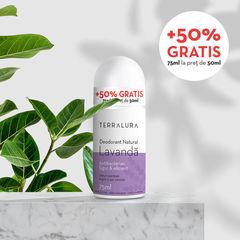 Deodorant Roll-on Natural Lavandă, 50ml + 50% GRATIS | Terralura
