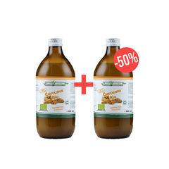 Pachet 1+50% CADOU Suc de Curcuma 100% Pur, Bio, 500 ml | Health Nutrition