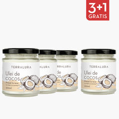 Pachet 3+1 Gratis Ulei de Cocos Presat la Rece 200 ml | Terralura