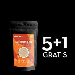 Pachet 5+1 GRATIS Ashwagandha pulbere ecologică/bio 125g | Niavis
