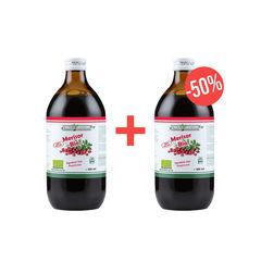 Pachet 1+50% din al 2-lea produs Suc de Merisor 100% Pur, Bio, 500 ml | Health Nutrition