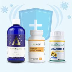 Pachet Complet Imunitate | Vitamina C + Vitamina D + Zinc
