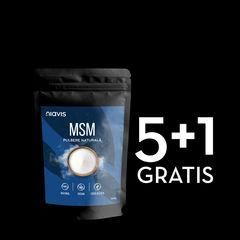 Pachet 5+1 GRATIS MSM Pulbere 100% Naturală 250g   Niavis