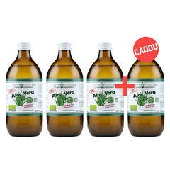 Pachet 3+1 Gratis Suc de Aloe Vera 100% Pur, Bio, 500ml | Health Nutrition