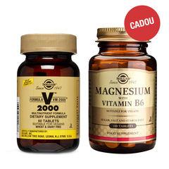 Pachet Formula VM 2000, 60 tablete + CADOU Magnesium + B6, 100 tablete | Solgar
