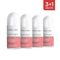 Pachet 3+1 Gratis Deodorant natural roll-on Ylang-Ylang | Terralura