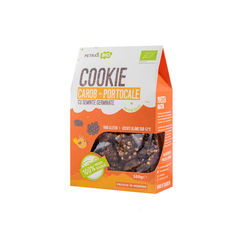 Cookie eco carob portocale cu semințe germinate 100g | Petras Bio
