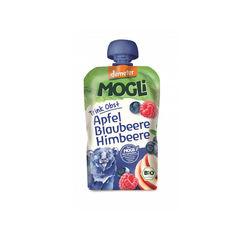 Piure eco/bio de mere, afine şi zmeură 100g | Mogli