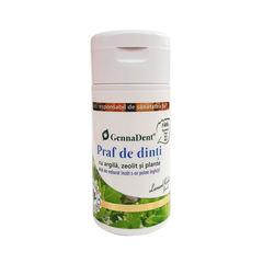 GennaDent Praf de Dinti 100% Natural cu Argilă, Zeolit și Plante, 75g  | Vivanatura