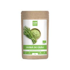 Iarbă de grâu pudră ecologică 125g | Rawboost