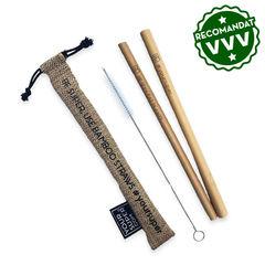 Set Paie din bambus organic reutilizabile, cu periuţă şi săculeţ | Your Super
