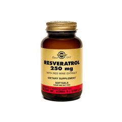 Resveratrol 250 mg cu Extract de Vin Roșu, 30 capsule | Solgar