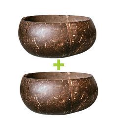 Set 2 Boluri din nucă de cocos ecologică JUMBO | Coconut Bowls