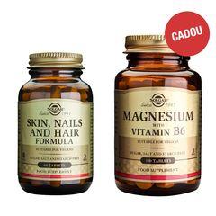 Pachet Skin, Nails and Hair Formula, 60 tablete + CADOU Magnesium + B6, 100 tablete  | Solgar