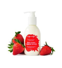 Strawberry Explosion: Lotiune pentru corp hidratanta vegana cu extract de capsuni pentru toate tipurile de piele | Uoga Uoga