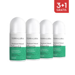 Pachet 3+1 Gratis Deodorant Natural roll-on Mentă | Terralura
