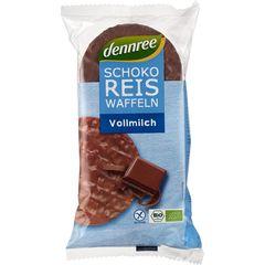 Rondele din Orez Expandat cu Ciocolată și Lapte Integral, 100g | Dennree