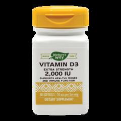 Vitamin D3 2000UI (Adulți), 30 capsule moi | Secom