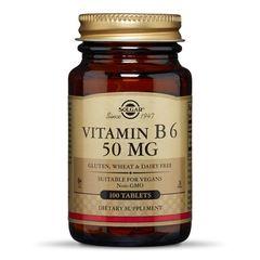Vitamina B6 50mg, 100 tablete | Solgar
