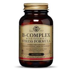 B - COMPLEX cu Vitamina C, 100 tablete | Solgar