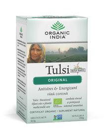 Ceai Tulsi (Busuioc Sfant) Original, Antistres & Energizant 18pl | Organic India