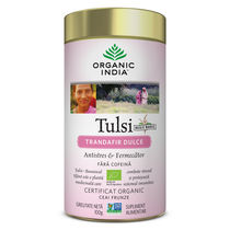 Ceai Tulsi Trandafir Dulce, Antistres & Fermecator 100g | Organic India