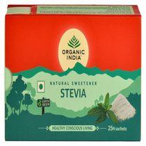 Stevia 25 plicuri | Hipocaloric & Fără Zahăr | Organic India
