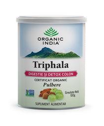 Triphala pudră organică 100g | Digestie & Detoxifiere Colon | Organic India