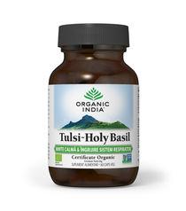 Tulsi (Busuioc Sfânt) Minte calmă și îngrijire sistem respirator 60 cps | Organic India