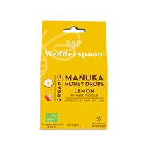 Bomboane (dropsuri) ecologice cu Miere de Manuka, Lamaie si Propolis 120g | Wedderspoon