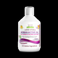 Multivitamine Lichide WOMAN ACTIVE 50+ pentru Femeile peste 50 Ani cu 131 Ingrediente, 500 ml | Swedish Nutra