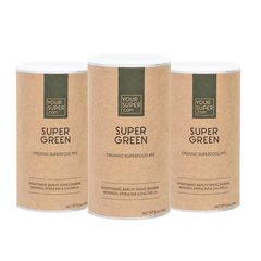 Pachet 3x SUPER GREEN Organic Superfood Mix, 150g | Your Super